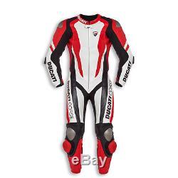 Ducati Corse Moto Rouge Moto Racing Un Deux Pièces En Cuir Costume Armure
