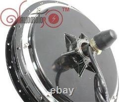 Duty Free 48v 1500w Threaded Brushless Gearless Rear Hub Motor For Electric Bike