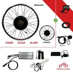 E-bike / Pedelec Umbausatz Kit 1500 W Heck Motor 28/29 Shimano Display