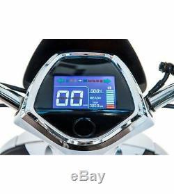 Electric Adult E-scooter Retro Vespa Motocycle Cyclomoteur De 800w Blanc 28 Mph