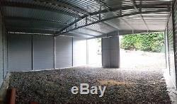 Garage Sécurisé Pour 18x18ft Voiture, Moto Jardin Équipement Shed Atelier Rangement