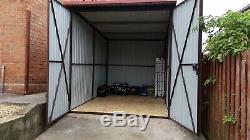 Grande Shed 7x10ft Stockage Moto Secure Garage Vélo Robuste Atelier Sûr