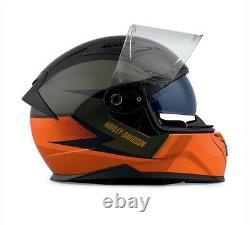 Harley-davidson Killian M05 Casque Plein Visage Noir Et Orange 98114-20ex