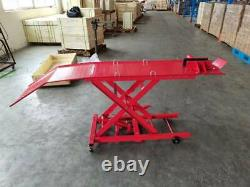 Hydraulic Motorcycle Motorcycle Lift Ramp Bench 365kg 800 Lbs Capacité
