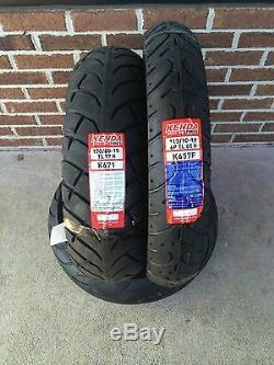 Kenda Honda Vtx1300c & Vt1100c Ombre 110-90-19 Et 170-80-15 Motos Set Tire