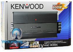 Kenwood Kac-m3004 Mini Car Marine Bateau Moto Amplificateur De Neuf 4 Canaux