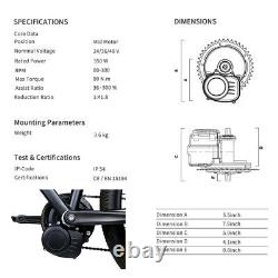 Kit De Conversion Moteur Tongsheng 48v500w MID Drive Avec 48v Battery E-bike Bicycle