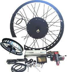 LCD + 26 72v3000w 4.0 Rim Fat Vélo Électrique E Bike Hub Kit De Conversion Moteur