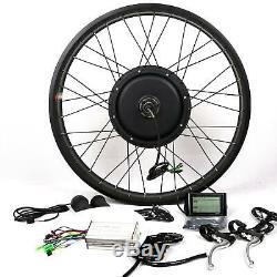 LCD + 48v1500w Salut Vitesse Vélo Électrique E Hub Bike Conversion Kit Moteur 26rear