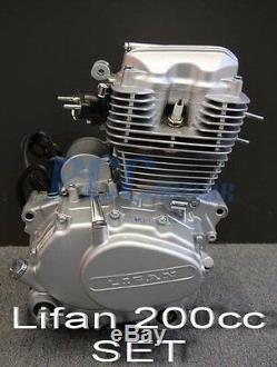 Lifan 200cc 5 Moteur Moteur Vitesse CDI Moto Dirt Bike Go Kart M En25-set