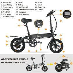 Megawheels E-bike 14'' Inch Folding Electric Bike City Scooter 36v 250w Motor Royaume-uni