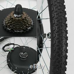 Moteur Roue Arrière 1000w Vélo Électrique Kit De Conversion Ebike Vélo Frein À Disque
