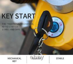 Moto Électrique Adulte 2000w Vélo Électrique 8 Pouces Fat Tire Disc Brakes Jaune