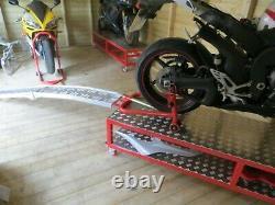 Moto Moto Moto Mobile Workbench Ramp 400kg Moto Stand Dolly Made In Uk