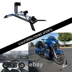 Motorcycle Réglable Roue Chock Floor Bike Stand Truck Bed Tie Down Hook