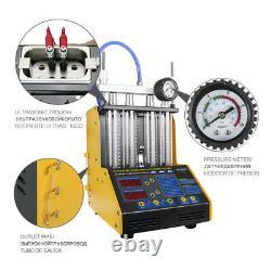 Nettoyeur D'injecteur De Carburant À Ultrasons Testeur D'injecteur De Carburant Pour L'essence Voiture / Moteur 220 V
