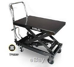New Capacité De Levage 500 KG Roues Hydrauliques Scissor Atelier Table Garage Banc