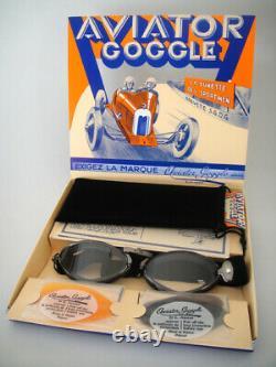 Nouveau Aviator 4400 Goggles L Jeantet Moto Vintage Pilot Racing Classic Luxe