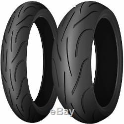 Paire De 120/70/17 Et 180/55/17 Michelin Pilot Power Moto Pneus Cyclotourisme