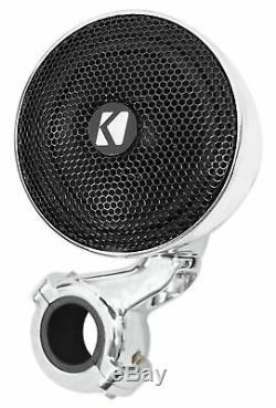 Paire Kicker 40psm34 Psm3 Étanche Moto / Vtt Guidons Haut-parleurs De 4 Ohms