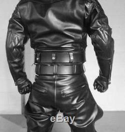 Pantalon En Cuir Noir Pantalon Moto Culottes Nouveau Pantalon En Cuir / Pantalon Noir