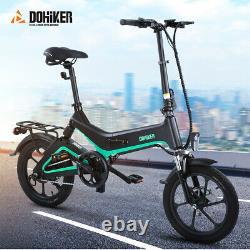 Pliant Vélo Électrique Ebike Ebike Batterie Montagne Bicyclette Motorisée 36v 250w