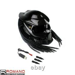 Predator Bike Helmet Mask Carbon Fibre Motorcycle Iron Man Full Face Helmet Nouveau