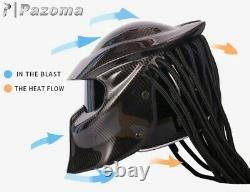 Predator Moto Casque Full Face Iron Warrior Dot Predator Personnalisé Hommes Casque