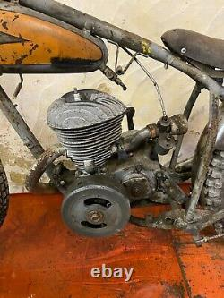 Rare Fin Des Années 30 Peugeot Speedway Bike Project Display Motorcycle 125