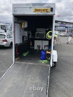 Remorque Van Race Box Avec Chargement Ramp Kart Motorcycle Track Bike Storage