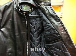 Schott Nyc Perfecto #641hh Horsehide Leather Jacket Black Made In USA