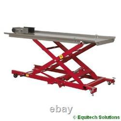 Sealey Tools Mc454 Hydraulic Motorcycle Lift Ramp Bench 450kg Capacité
