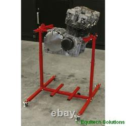 Sealey Tools Mes02 Moto Motorcycle Engine Rebuild Stand Multi Cylindre 75kg