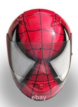 Spider Man Custom Airbrushed Painted Fullface Motorcycle Helmet