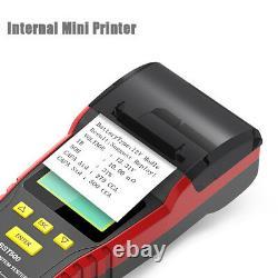 Testeur De Batterie De Camion Lourd De Voiture 12v 24v + Analyseur De Batterie Du Système De Charge D'imprimante