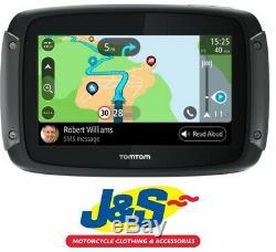 Tomtom Rider 550 Monde Sat Nav Gps Moto Moto Cartes Vélo Navigation J & S