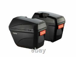 Universal Hard Case Side Panniers Led Light Quick Release-motorcycle-bike 2x 28l