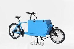 Vélo Cargo Électrique 2 Roues Haut Moteur De Couple 2 Boîtes Pour Les Enfants Et La Livraison De Nourriture