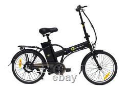 Vélo Électrique Ebike Cycle Fly Pliable Moto 250w En Acier Noir