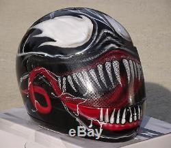 Venom Casque De Moto Peint Airbrush Sur Mesure