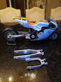 Vintage Rc Voiture Tonnerre Tigre Ducati Rc 3 Pouces Étiré Swingarm Que La Rue Pro