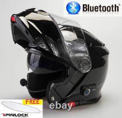 Viper Rs-v171 Bluetooth Blinc Flip Avant Casque De Moto Libre Pinlock