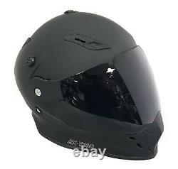 Viper Rx-v288 Dual Visor Enduro Moto Casque Matt Noir + Visière Extra Dark