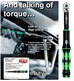 Wera 1/4 Click Torque A5 Wrench Spanner, 2 To 25nm Cycle, Motor, 075604