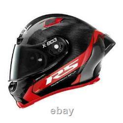 X-lite X803 Rs Red Carbon Hot Lap Casque De Moto Spoiler Amovible + Visière Wq